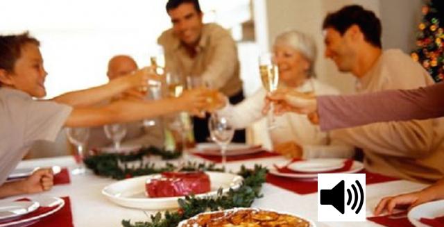 Cenas familiares sin discordia porque... por una vez al año.
