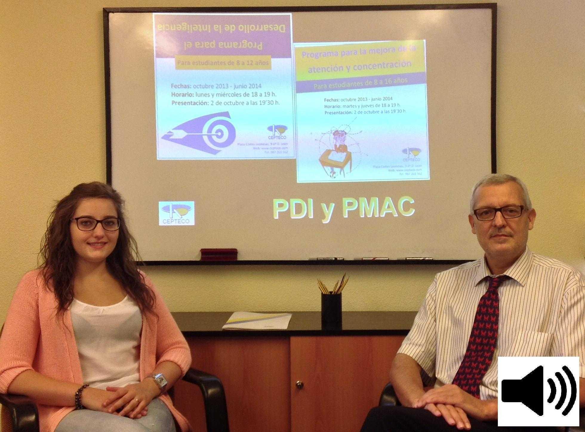 Presentación PDI-PMAC Onda Cero, 2 octubre 2013: Elena Díez y Miguel Ángel Cueto