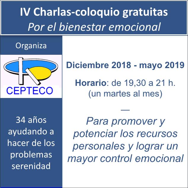 """IV Charlas-coloquio """"Por el bienestar emocional"""""""