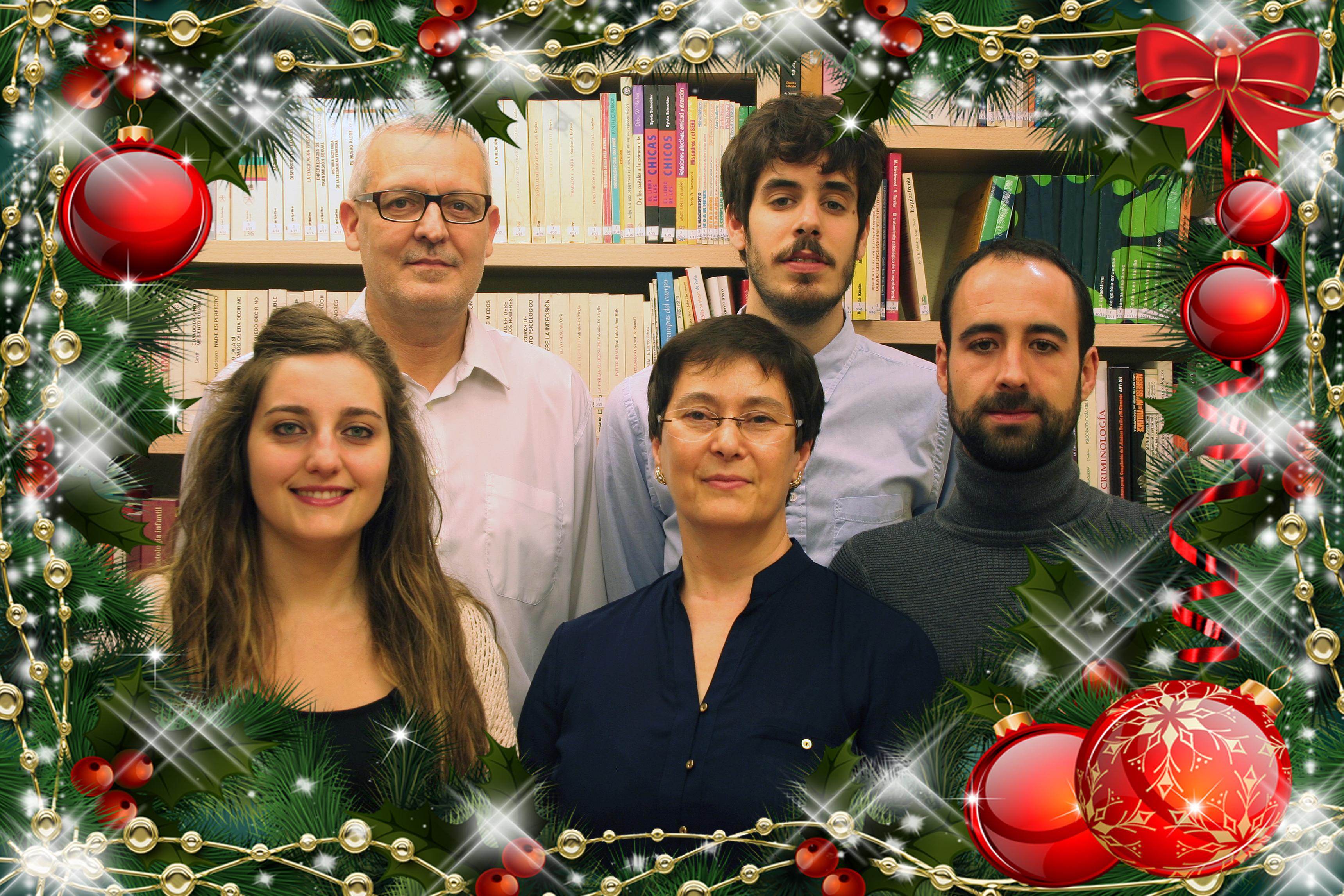 Miguel Ángel Cueto, David Cueto, Elena Díez, Mª Carmen García y Nicolás Merino