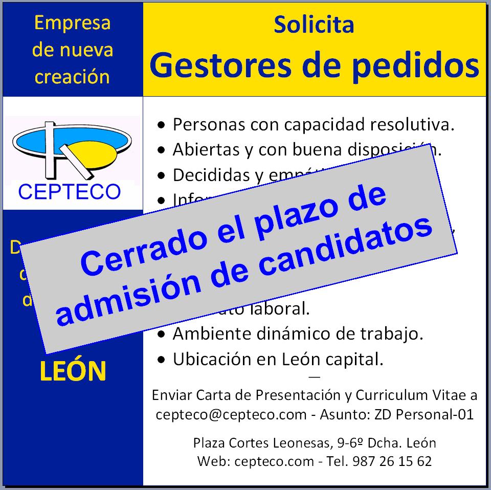 Cerrado el plazo de admisión de candidatos el 6 de octubre 2013
